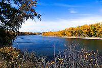 Autumn on the Flathead River in Montana.