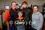 The Foran family at home in Ballyheigue. L to r: Risteard Ó Fuaráin, Cai, Sheamie and Ann Foran