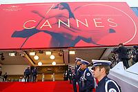 Sur le tapis rouge pour la soirée dans le cadre de la journée anniversaire de la 70e édition du Festival du Film à Cannes, Palais des Festivals et des Congres, Cannes, Sud de la France, mardi 23 mai 2017.