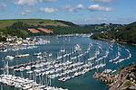 Great Britain, England, Devon, Dartmouth: View along River Dart Estuary | Grossbritannien, England, Devon, Dartmouth: an der Muendung des Dart River, beliebt bei Seglern