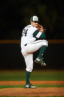 Chicago State Cougars relief pitcher Grant Trower (24) delivers a pitch during a game against the Georgetown Hoyas on March 3, 2017 at North Charlotte Regional Park in Port Charlotte, Florida.  Georgetown defeated Chicago State 11-0.  (Mike Janes/Four Seam Images)