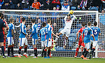 Wes Foderingham saves from a free-kick