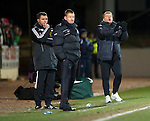 St Johnstone v Celtic...18.12.11   SPL .Neil Lennon tells his players to push on.Picture by Graeme Hart..Copyright Perthshire Picture Agency.Tel: 01738 623350  Mobile: 07990 594431