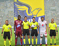 IBAGUÉ- COLOMBIA,20-07-2019:Lisandro Castillo Forero ,referee central entre los equipos  del Deportes Tolima y el América de Call durante  partido por la fecha 2 de la Liga Águila II 2019 jugado en el estadio Manuel Murillo Toro de la ciudad de Ibagué. /Central referee Lisando Castillo Forero between teams  Deportes Tolima and America de Cali during the 2 match for  the Liga Aguila I I 2019 played at the Manuel Murillo Toro stadium in Ibague city. Photo: VizzorImage / Juan Carlos Escobar  / Contribuidor
