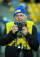 Photographer Pete McDonald during the Super Rugby match between the Hurricanes and Chiefs at Westpac Stadium, Wellington, New Zealand on Saturday, 23 April 2016. Photo: Dave Lintott / lintottphoto.co.nz