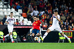 Norway's Markus Henriksen, Spain's Sergio Busquets   during the qualifying match for Euro 2020 on 23th March, 2019 in Valencia, Spain. (ALTERPHOTOS/Alconada)