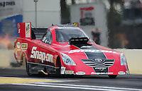 Mar. 9, 2012; Gainesville, FL, USA; NHRA funny car driver Cruz Pedregon during qualifying for the Gatornationals at Auto Plus Raceway at Gainesville. Mandatory Credit: Mark J. Rebilas-