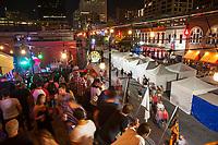 El distrito de entretenimiento de 6th street es el hogar de Austin, Texas, en la salones de la azotea, pubs y bares famosos.