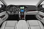 Stock photo of straight dashboard view of 2015-2017 Acura TLX Technology 4 Door Sedan