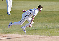 Yorkshire's Jordan Thompson bowls during Kent CCC vs Yorkshire CCC, LV Insurance County Championship Group 3 Cricket at The Spitfire Ground on 16th April 2021