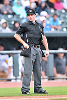 South Atlantic League home plate umpire Matt Brown during the South Atlantic League All Star Game at Spirit Communications Park on June 20, 2017 in Columbia, South Carolina. The game ended in a tie 3-3 after seven innings. (Tony Farlow/Four Seam Images)