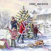 Marcello, CHRISTMAS CHILDREN, WEIHNACHTEN KINDER, NAVIDAD NIÑOS, paintings+++++,ITMCXM1207A,#xk# ,playing in snow