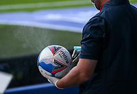 A member of the Sheffield Wednesday match day staff sprays a ball<br /> <br /> Photographer Alex Dodd/CameraSport<br /> <br /> The EFL Sky Bet Championship - Sheffield Wednesday v Watford - Saturday 19th September 2020 - Hillsborough Stadium - Sheffield <br /> <br /> World Copyright © 2020 CameraSport. All rights reserved. 43 Linden Ave. Countesthorpe. Leicester. England. LE8 5PG - Tel: +44 (0) 116 277 4147 - admin@camerasport.com - www.camerasport.com
