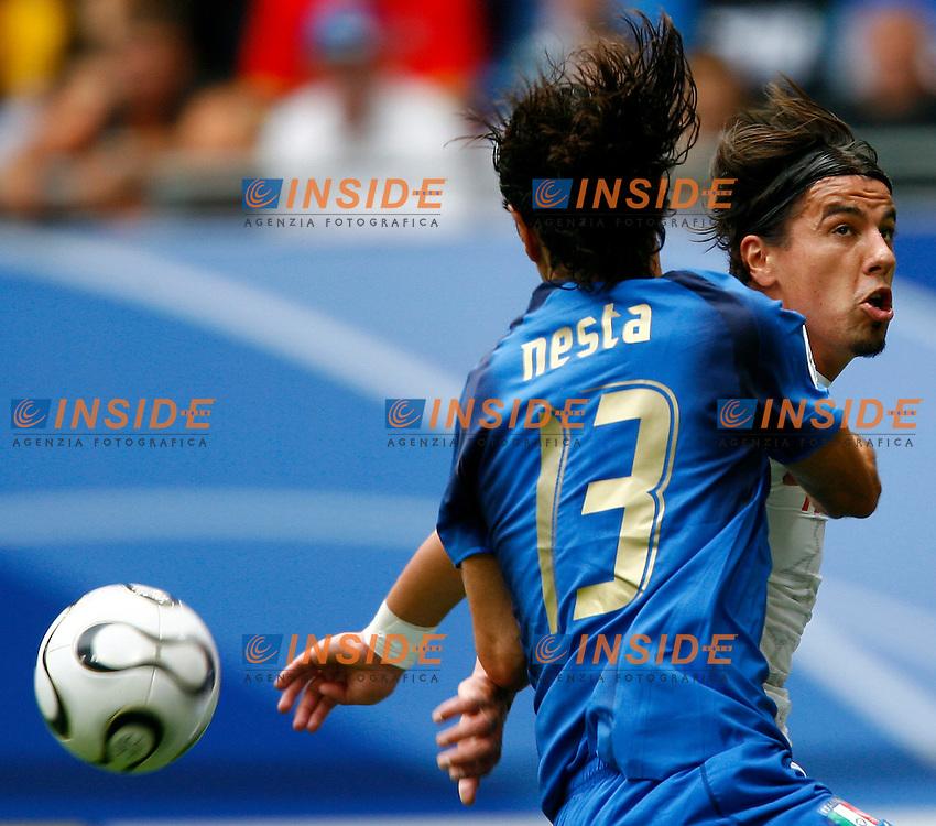 HAmburg 22/6/2006 World Cup 2006.Repubblica Ceca Italia 0-2 0-2.Photo Andrea Staccioli Insidefoto.Alessandro Nesta Italy Milan Baros Czech REpublic