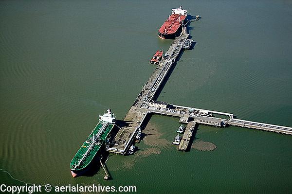aerial photography Chevron Richmond Long Wharf, Richmond, California