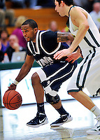 29 January 2012: University of New Hampshire Wildcat guard Alvin Abreu, a Senior from Lynn, MA, in action against the University of Vermont Catamounts at Patrick Gymnasium in Burlington, Vermont. The Catamounts defeated the Wildcats 77-60 in America East play. Mandatory Credit: Ed Wolfstein Photo
