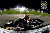 NASCAR Camping World Truck Series<br /> Toyota Tundra 250<br /> Kansas Speedway, Kansas City, KS USA<br /> Friday 12 May 2017<br /> Kyle Busch, Cessna Toyota Tundra celebrates his win<br /> World Copyright: Russell LaBounty<br /> LAT Images<br /> ref: Digital Image 17KAN1rl_4817