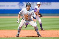 Eric Hosmer #30 of the Wilmington Blue Rocks takes his lead off of second base against the Winston-Salem Dash at the BB&T Park April25, 2010, in Winston-Salem, North Carolina.  Photo by Brian Westerholt / Four Seam Images