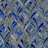 """19"""" x 19"""" Margot, a jewel glass waterjet mosaic, is shown in Blue Onyx."""