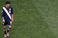 Francisco Torres  of USA walk off dejected at half time against Slovenia