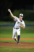 Pitt Panthers starting pitcher Aaron Sandefur (35) delivers a pitch during a game against the Ohio State Buckeyes on February 20, 2016 at Holman Stadium at Historic Dodgertown in Vero Beach, Florida.  Ohio State defeated Pitt 11-8 in thirteen innings.  (Mike Janes/Four Seam Images)