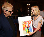 Artist Ken Fallin and Anais Mitchell during the DGf Salon with Anais Mitchell at the Kara Uterberg Residence on June 3, 2019  in New York City.