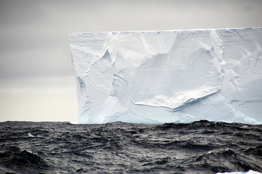 Majestic - Sheer sides of an iceburg in the Great Southern Ocean.