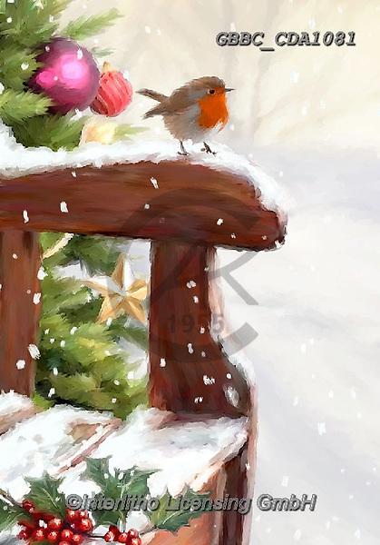 Barry, CHRISTMAS LANDSCAPES, WEIHNACHTEN WINTERLANDSCHAFTEN, NAVIDAD PAISAJES DE INVIERNO, paintings+++++,GBBCCDA1081,#xl# ,red robin