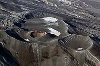 aerial photograph of the little Hebe Crater,  Death Valley National Park, northern Mojave Desert, California