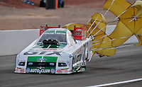 Nov. 1, 2008; Las Vegas, NV, USA: NHRA funny car driver Ashley Force during qualifying for the Las Vegas Nationals at The Strip in Las Vegas. Mandatory Credit: Mark J. Rebilas-