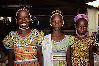Tortiya, Ivory Coast, Cote d'Ivoire, Africa - Fulani Girls in Colorful Dresses. West African portraits of ethnic Hausa, Fulani, Zarma (Djerma), and others from Niger, Ivory Coast, and Burkina Faso. Tell us what you need.