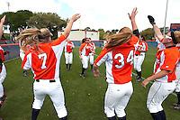 SAN ANTONIO, TX - MARCH 30, 2009: The Texas Tech Red Raiders vs. The University of Texas at San Antonio Roadrunners Softball at Roadrunner Field. (Photo by Jeff Huehn)