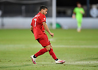 LAKE BUENA VISTA, FL - JULY 26: Pablo Piatti of Toronto FC watches his pass during a game between New York City FC and Toronto FC at ESPN Wide World of Sports on July 26, 2020 in Lake Buena Vista, Florida.