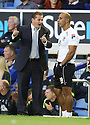 Stevenage manager Graham Westley and assistant manager Dino Maamria<br />  - Everton v Stevenage - Capital One Cup Second Round - Goodison Park, Liverpool - 28th August, 2013<br />  © Kevin Coleman 2013