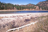 Mahoney Lake Ecological Reserve near Okanagan Falls, South Okanagan Valley, BC, British Columbia, Canada - a Saline, Alkaline, Mineral, and Meromictic Lake