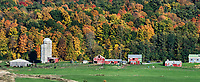 Charming autumn farm, Middlebury, Vermont, USA.