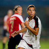 Tobin Heath. The US lost to Norway, 2-0, during first round play at the 2008 Beijing Olympics in Qinhuangdao, China.