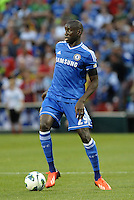 Demba Ba Chelsea in action..Manchester City defeated Chelsea 4-3 in an international friendly at Busch Stadium, St Louis, Missouri.