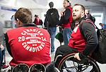 Marc Dorion and  Billy Bridges, Sochi 2014. <br /> Team Canada arrives at the airport in Sochi for the Sochi 2014 Paralympic Winter // Équipe Canada arrive à l'aéroport de Sotchi pour Sochi 2014 Jeux paralympiques d'hiver. 28/02/2014.