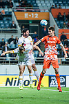 Jeju United Defender Aleksandar Jovanovic (R) fights for heads the ball with Adelaide United Defender Dylan Mcgowan (L) during the AFC Champions League 2017 Group Stage - Group H match between Jeju United FC (KOR) vs Adelaide United (AUS) at the Jeju World Cup Stadium on 11 April 2017 in Jeju, South Korea. Photo by Marcio Rodrigo Machado / Power Sport Images