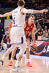 Real Madrid's Andres Nocioni and EA7 Emporio Armani Milan's Zoran Dragic during Turkish Airlines Euroleage match between Real Madrid and EA7 Emporio Armani Milan at Wizink Center in Madrid, Spain. January 27, 2017. (ALTERPHOTOS/BorjaB.Hojas)