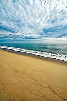 Pristine deserted beach, Long Nook Beach, Cape Cod National Seashore, Truro, Cape Cod, MA, USA