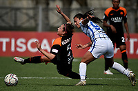 Vanessa Bernauer of AS Roma and Yoreli Rincon of FC Internazionale compete for the ball during the Women Serie A football match between AS Roma and FC Internazionale at stadio Agostino Di Bartolomei, Roma, March 20th, 2021. AS Roma won 4-3 over FC Internazionale. Photo Andrea Staccioli / Insidefoto