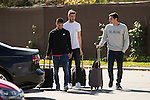 Arrival of the players of the Spanish football team squad for the Qualifying to European Championship in France at the Ciudad del Futbol of Las Rozas, Madrid. October 06, 2015<br /> In the image midfield player of Real Madrid, Isco (R), goolkeeper of Manchester United, David de Gea (C) and goolkeeper of Oporto, Iker Casillas (L).<br /> (ALTERPHOTOS/BorjaB.Hojas)
