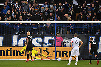 SAN JOSE, CA - MARCH 7: Magnus Eriksson #7 of the San Jose Earthquakes scores on a PK on Minnesota United goalkeeper Tyler Miller #1 during a game between Minnesota United FC and San Jose Earthquakes at Earthquakes Stadium on March 7, 2020 in San Jose, California.