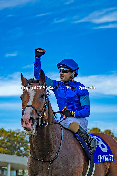 FUNABASHI,JAPAN-SEP 29: Tower of London,ridden by Christophe Lemaire, after winning the Sprinters Stakes at Nakayama Racecourse on September 29,2019 in Funabashi,Chiba,Japan. Kaz Ishida/Eclipse Sportswire/CSM