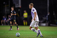 LAKE BUENA VISTA, FL - JULY 20: Robin Jansson #6 of Orlando City SC dribbles the ball during a game between Orlando City SC and Philadelphia Union at Wide World of Sports on July 20, 2020 in Lake Buena Vista, Florida.