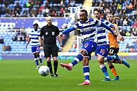 Jordan Obita of Reading has a shot on goal during Reading vs Hull City, Sky Bet EFL Championship Football at the Madejski Stadium on 8th February 2020