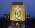 #1 sign and Touchdown Jesus