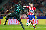 Atletico de Madrid's Saul Niguez (r) and Chelsea FC's Tiemoue Bakayoko during Champions League 2017/2018, Group C, match 2. September 27,2017. (ALTERPHOTOS/Acero)